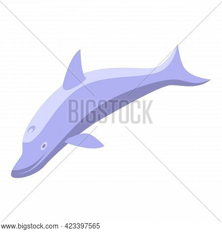 Sea Dolphin Icon. Isometric Of Sea Dolphin Vector Icon For Web Design Isolated On White Background
