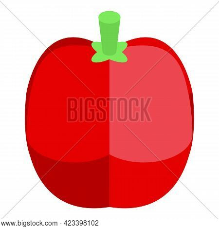 Juicy Paprika Icon. Isometric Of Juicy Paprika Vector Icon For Web Design Isolated On White Backgrou