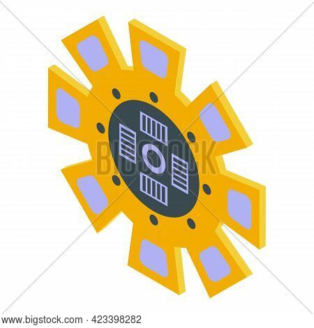 Machine Clutch Icon. Isometric Of Machine Clutch Vector Icon For Web Design Isolated On White Backgr
