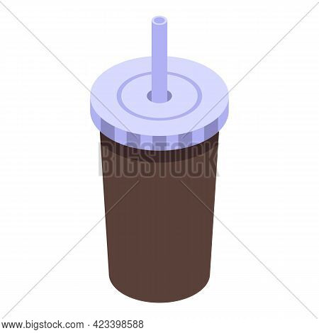 Paper Cup Coffee Icon. Isometric Of Paper Cup Coffee Vector Icon For Web Design Isolated On White Ba