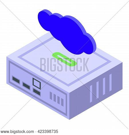 Modem Icon. Isometric Of Modem Vector Icon For Web Design Isolated On White Background