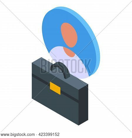 Human Resources Manager Icon. Isometric Of Human Resources Manager Vector Icon For Web Design Isolat