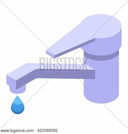 Water Payment Cancellation Icon. Isometric Of Water Payment Cancellation Vector Icon For Web Design
