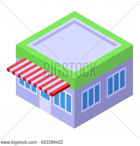 Street Shop Payment Cancellation Icon. Isometric Of Street Shop Payment Cancellation Vector Icon For