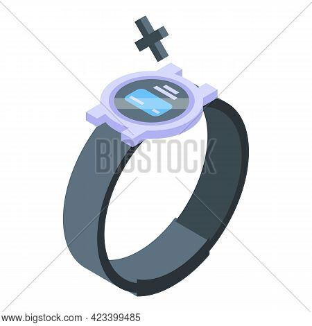 Smartwatch Payment Cancellation Icon. Isometric Of Smartwatch Payment Cancellation Vector Icon For W