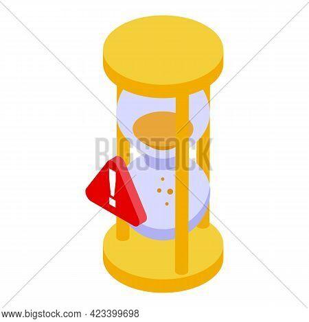 Hourglass Rush Job Icon. Isometric Of Hourglass Rush Job Vector Icon For Web Design Isolated On Whit