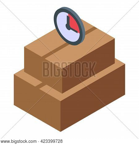 Parcel Rush Job Icon. Isometric Of Parcel Rush Job Vector Icon For Web Design Isolated On White Back