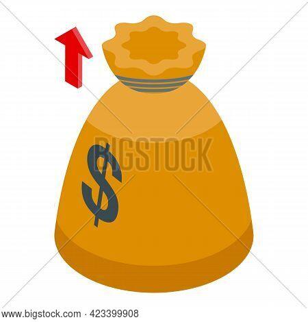 Money Bag Result Money Icon. Isometric Of Money Bag Result Money Vector Icon For Web Design Isolated
