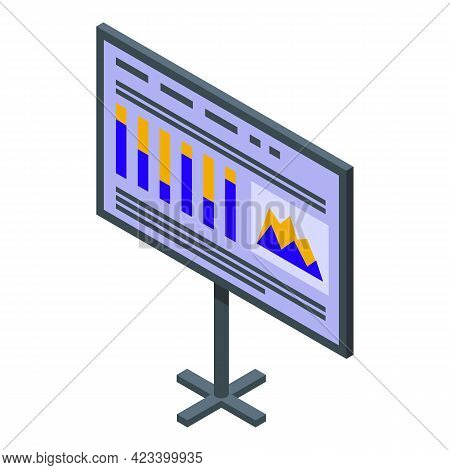 Banner Result Money Icon. Isometric Of Banner Result Money Vector Icon For Web Design Isolated On Wh