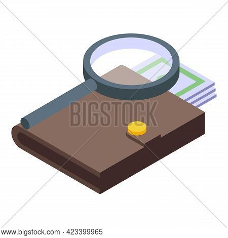 Wallet Result Money Icon. Isometric Of Wallet Result Money Vector Icon For Web Design Isolated On Wh