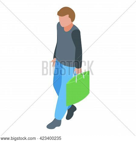 Boy Consumer Rights Icon. Isometric Of Boy Consumer Rights Vector Icon For Web Design Isolated On Wh