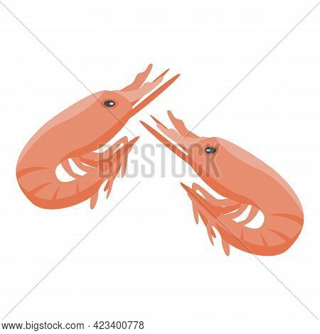 Shrimp Protein Icon. Isometric Of Shrimp Protein Vector Icon For Web Design Isolated On White Backgr