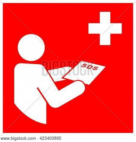 Sds Station Symbol Sign, Vector Illustration, Isolate On White Background Label .eps10