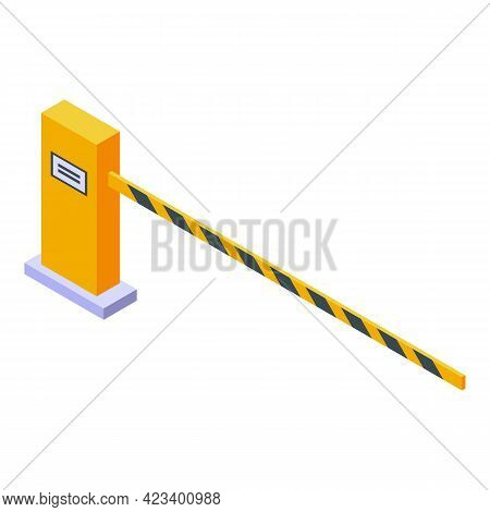 Automatic Barrier Icon. Isometric Of Automatic Barrier Vector Icon For Web Design Isolated On White