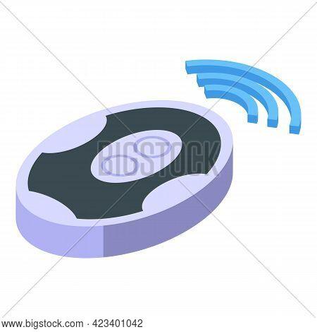 Automatic Gate Remote Control Device Icon. Isometric Of Automatic Gate Remote Control Device Vector