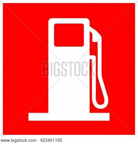 Refuelling Point Symbol Sign, Vector Illustration, Isolate On White Background Label .eps10