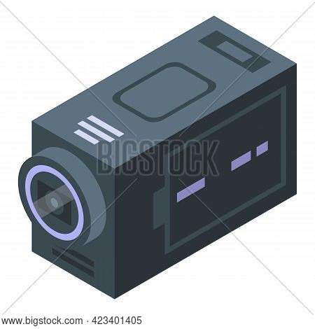 Fitness Blog Camera Icon. Isometric Of Fitness Blog Camera Vector Icon For Web Design Isolated On Wh