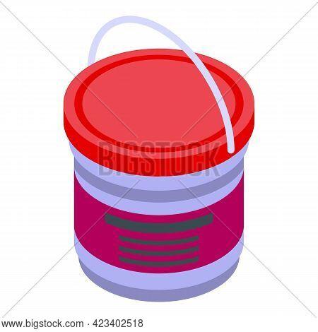 Bucket Paint Digital Printing Icon. Isometric Of Bucket Paint Digital Printing Vector Icon For Web D
