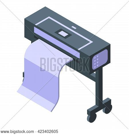 Machine Digital Printing Icon. Isometric Of Machine Digital Printing Vector Icon For Web Design Isol