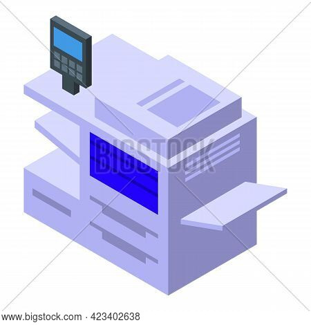 Multitask Digital Printing Icon. Isometric Of Multitask Digital Printing Vector Icon For Web Design