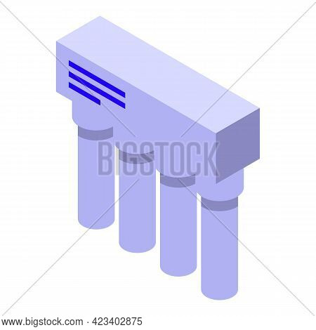 Water Purification Tank Icon. Isometric Of Water Purification Tank Vector Icon For Web Design Isolat