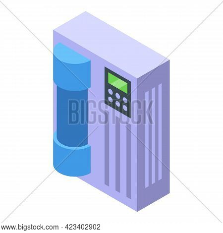 Water Purification Modern System Icon. Isometric Of Water Purification Modern System Vector Icon For