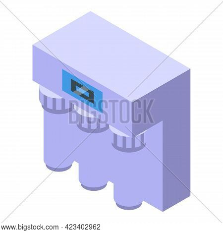 Water Purification Chemical Icon. Isometric Of Water Purification Chemical Vector Icon For Web Desig