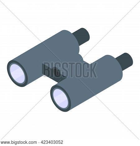 Hike Binoculars Icon. Isometric Of Hike Binoculars Vector Icon For Web Design Isolated On White Back