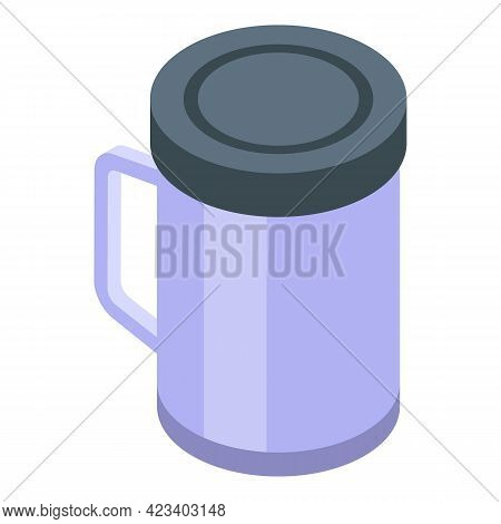 Hike Mug Bottle Icon. Isometric Of Hike Mug Bottle Vector Icon For Web Design Isolated On White Back