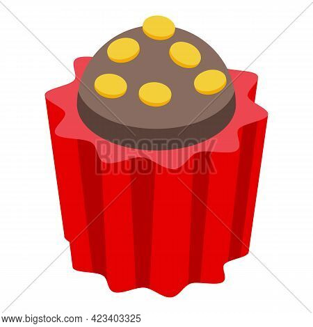 Cook Muffin Icon. Isometric Of Cook Muffin Vector Icon For Web Design Isolated On White Background