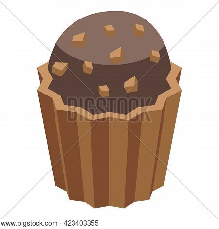 Sweet Muffin Icon. Isometric Of Sweet Muffin Vector Icon For Web Design Isolated On White Background