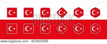 National flag of Turkey, Turkish flag in standard proportion color mode RGB. Turkey flag. Turkey flag icon, turkey flag, Turkey flag image, Turkey vector image, Turkey flag png, Turkey flag jpg, flag of national of Turkey. vector ilustration