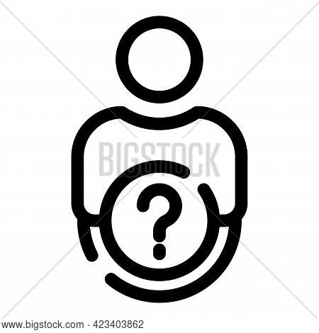 Anonymous Agent Icon. Outline Anonymous Agent Vector Icon For Web Design Isolated On White Backgroun