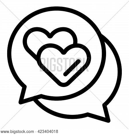 Chat Relationship Icon. Outline Chat Relationship Vector Icon For Web Design Isolated On White Backg