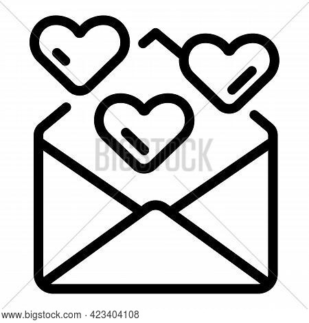 Envelope Relationship Icon. Outline Envelope Relationship Vector Icon For Web Design Isolated On Whi