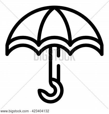 Umbrella Relationship Icon. Outline Umbrella Relationship Vector Icon For Web Design Isolated On Whi