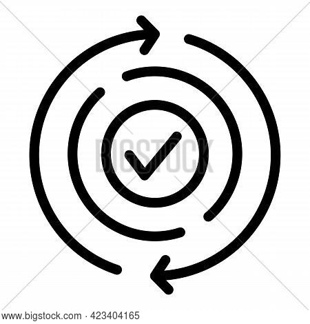 True Trust Relationship Icon. Outline True Trust Relationship Vector Icon For Web Design Isolated On