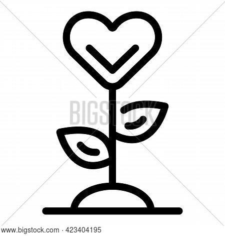 Plant Trust Relationship Icon. Outline Plant Trust Relationship Vector Icon For Web Design Isolated