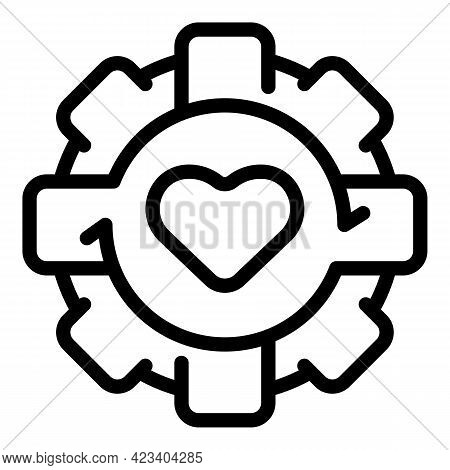Care Trust Relationship Icon. Outline Care Trust Relationship Vector Icon For Web Design Isolated On