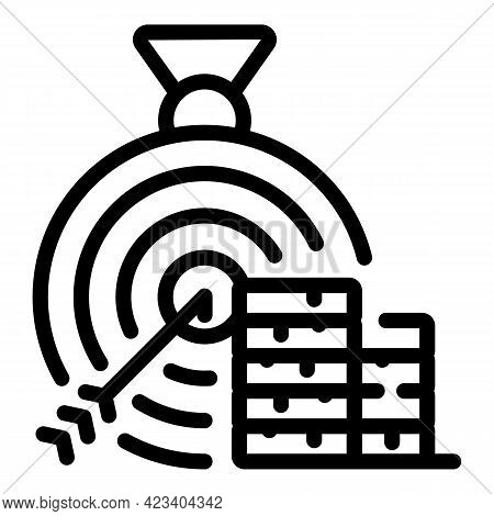 Relationship Target Icon. Outline Relationship Target Vector Icon For Web Design Isolated On White B