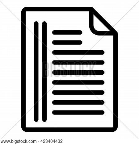 Tactical Documents Icon. Outline Tactical Documents Vector Icon For Web Design Isolated On White Bac