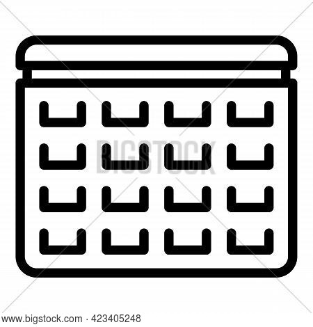 Event Planner Operation Icon. Outline Event Planner Operation Vector Icon For Web Design Isolated On