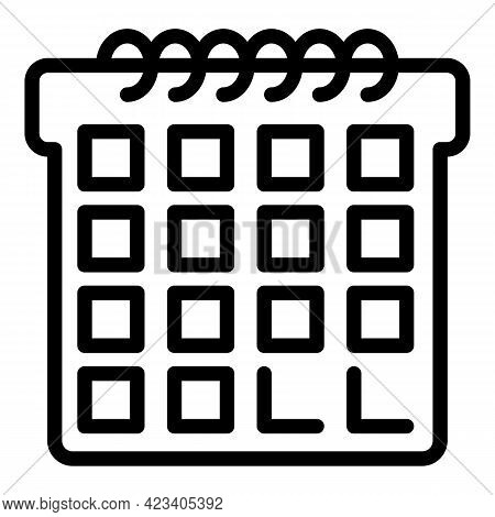 Event Planner Day Icon. Outline Event Planner Day Vector Icon For Web Design Isolated On White Backg