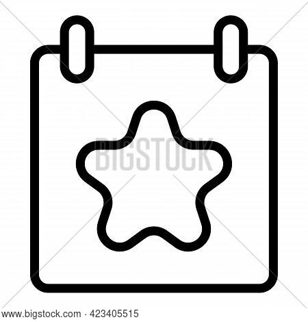 Event Planner Symbol Icon. Outline Event Planner Symbol Vector Icon For Web Design Isolated On White