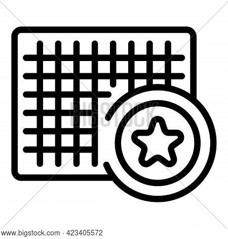 Event Planner Plan Icon. Outline Event Planner Plan Vector Icon For Web Design Isolated On White Bac