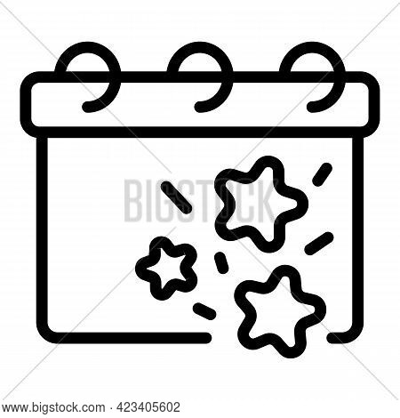 Event Planner Date Icon. Outline Event Planner Date Vector Icon For Web Design Isolated On White Bac