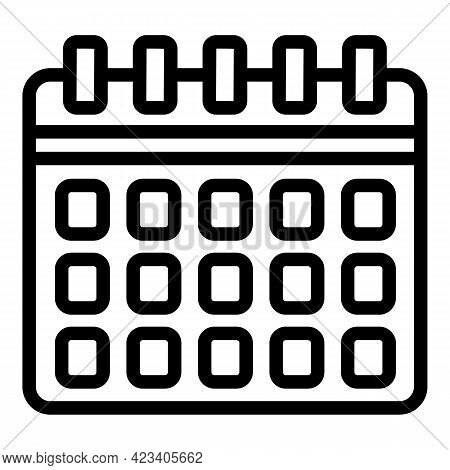 Event Planner Nobody Icon. Outline Event Planner Nobody Vector Icon For Web Design Isolated On White