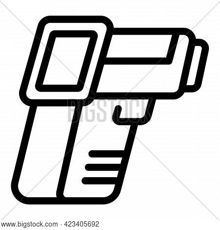 Laser Thermometer Heat Icon. Outline Laser Thermometer Heat Vector Icon For Web Design Isolated On W