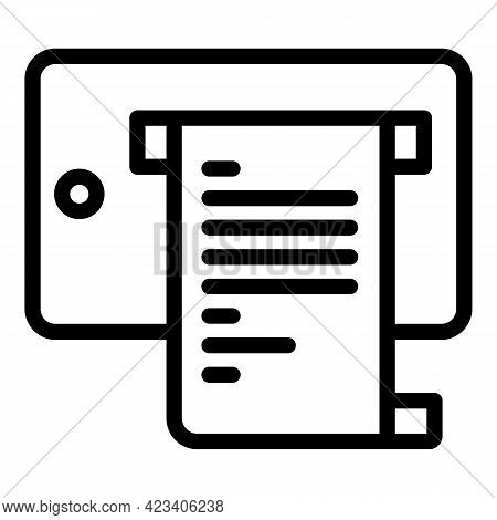 Taximeter Bill Payment Icon. Outline Taximeter Bill Payment Vector Icon For Web Design Isolated On W