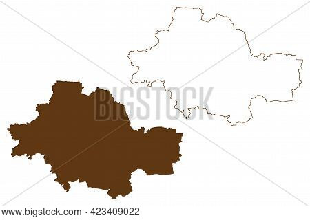 Unstrut-hainich District (federal Republic Of Germany, Rural District, Free State Of Thuringia) Map
